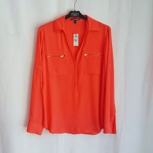 NEW! CORAL BUSINESS CASUAL TOP